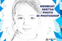 Gambar Sketsa Wajah di Photoshop