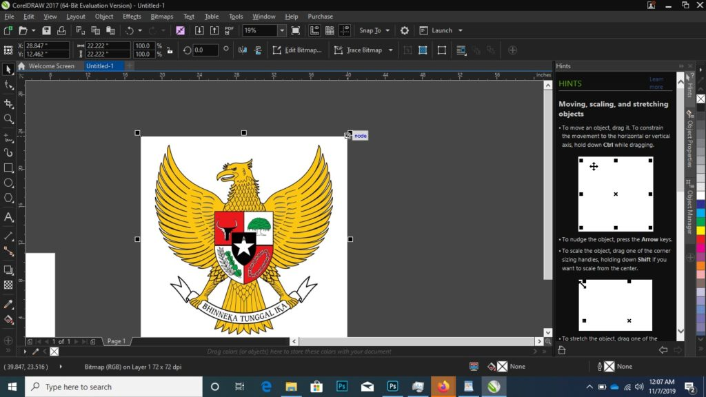 menghapus background corel