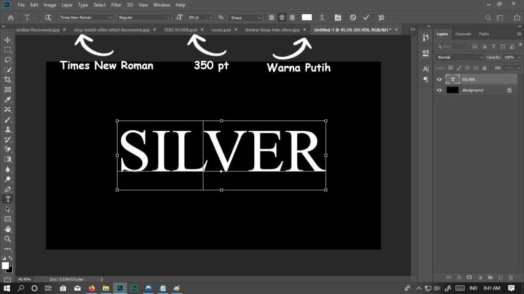 jenis teks silver