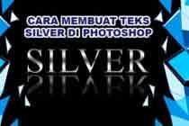 Cara Cepat dan Mudah Membuat Teks Silver Photoshop