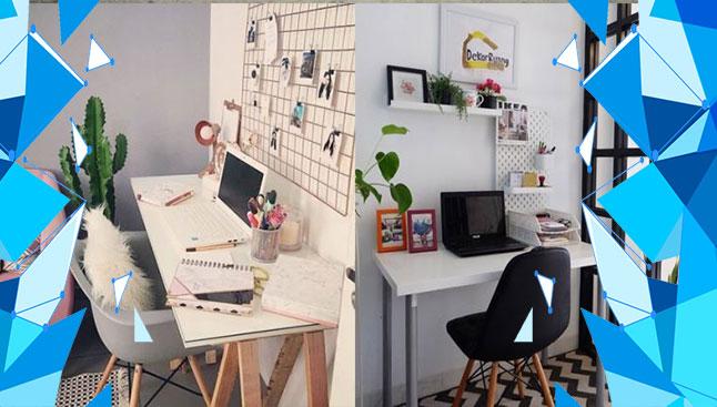 rapikan ruang kerja untuk mendapatkan inspirasi desain bagi desainer
