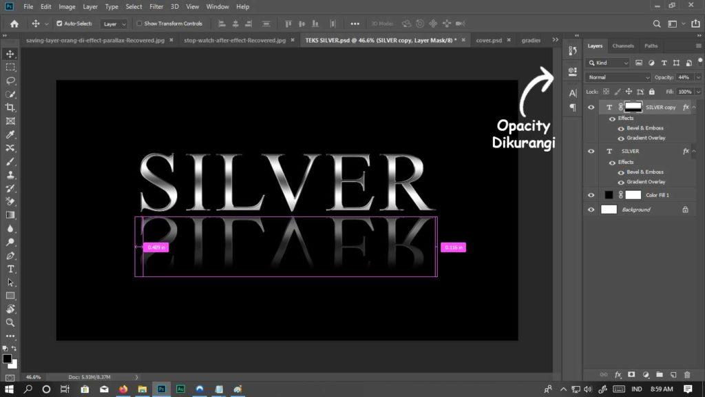 teks silver selesai