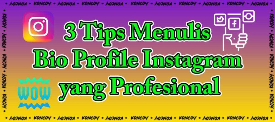 3 Tips Menulis Bio Profile Instagram yang Profesional