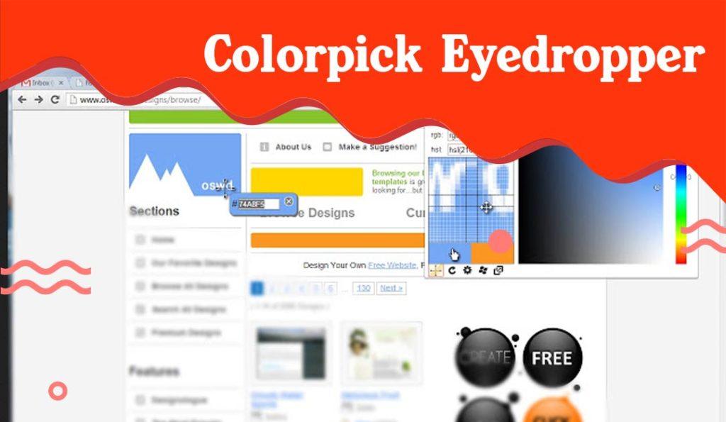Colorpick eyedropper extension chhrome buat desain grafis