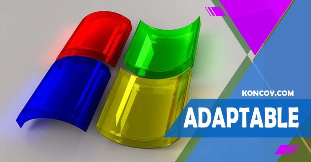 adaptable pada logo agar menjadi logo yang baik dan sempurna