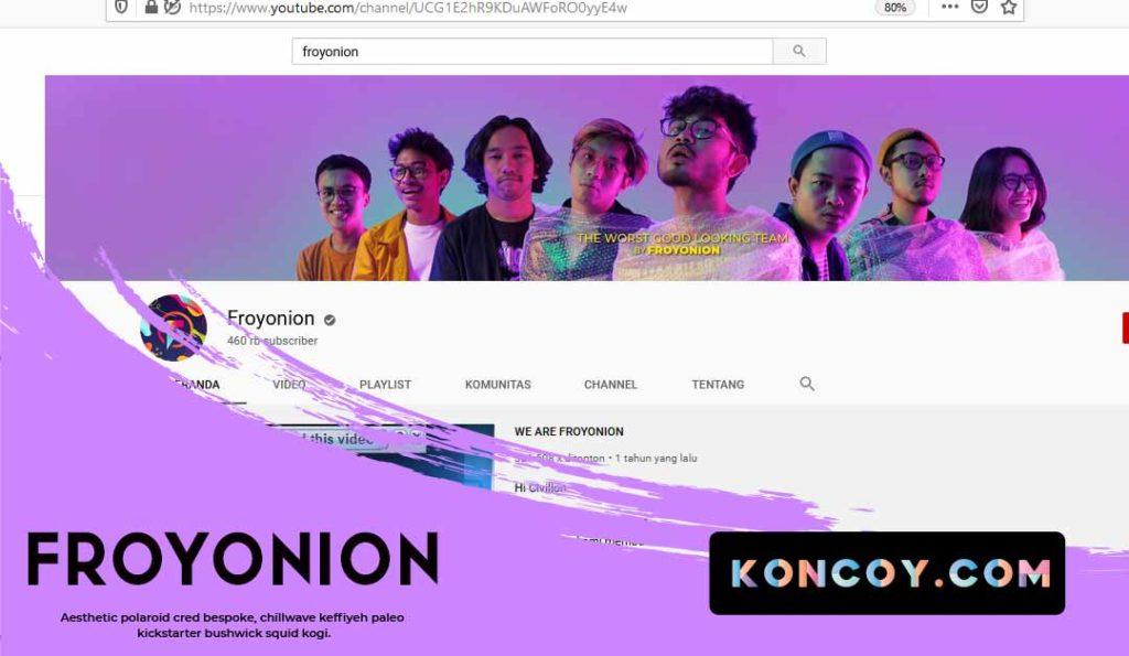 froyonion merupakan salah satu chanel youtube untuk para desainer