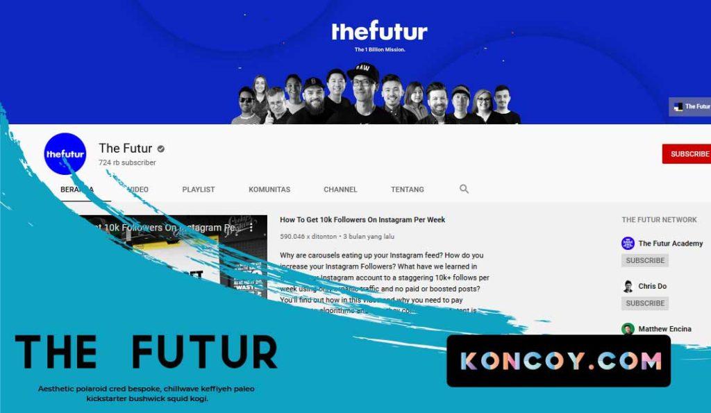 the futur chanel youtube untuk membahas tentang desainer