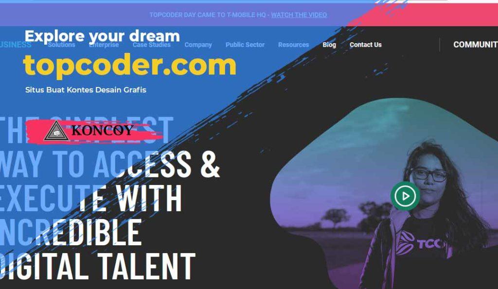 topcodersalah satu website untuk lomba desain grafis