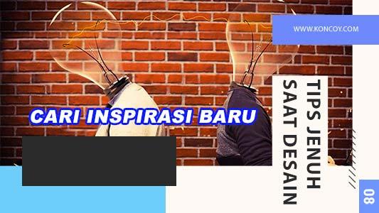 temukan inspirasi desain agar tidak bosan pada saat mendesain