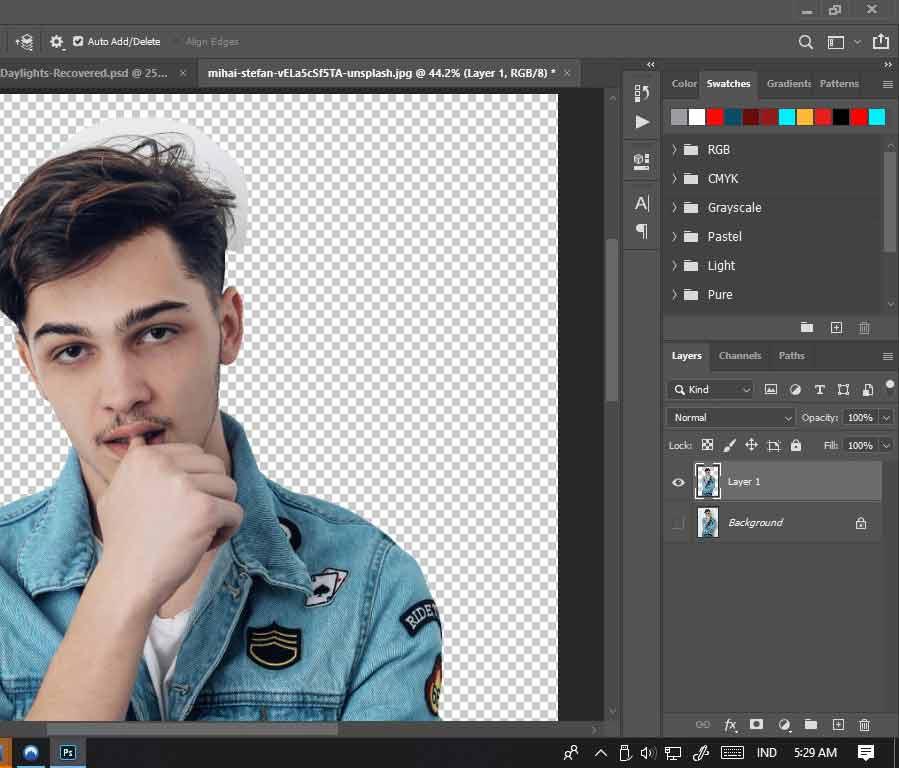menghapus background dengan menggunakan photoshop