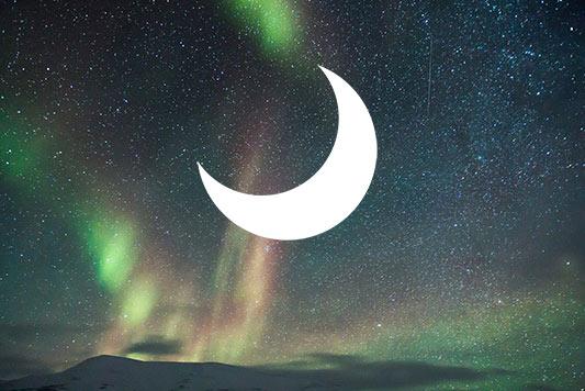 bulan sabit diletakan dilayer mask