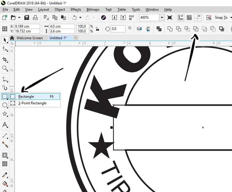 cara membuat tulisan melengkung di corel dengan teks