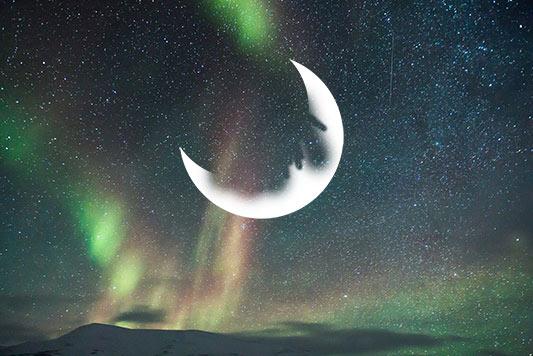 layer mask pada bulan sabit