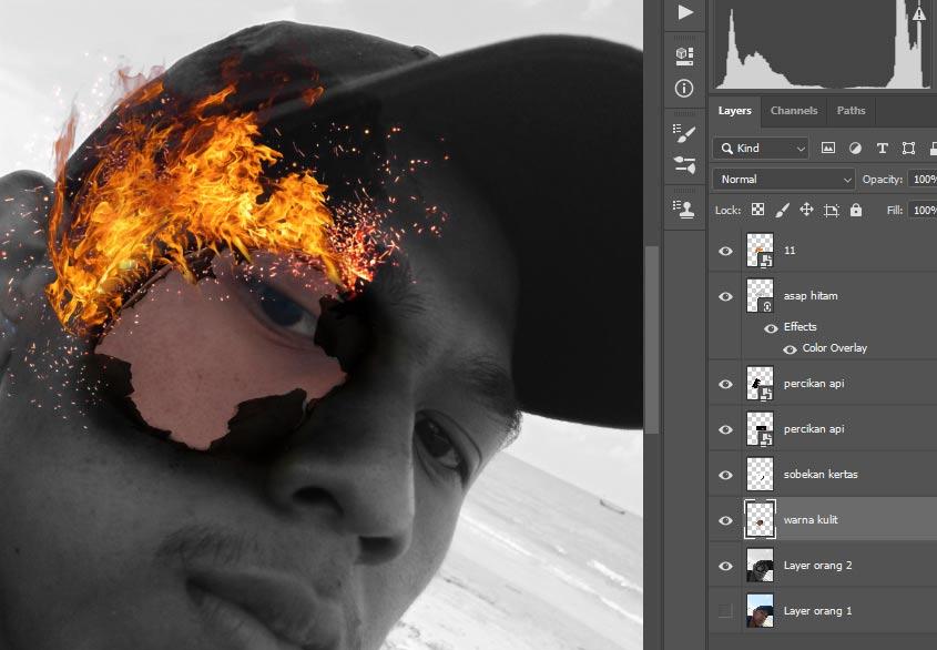 warna kulit bagian dalam kita gunakan dalam photoshop