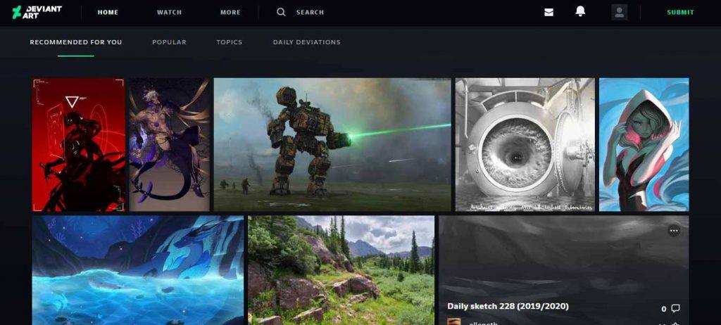 devianart merupakan salah satu situs desain grafis untuk mencari inspirasi