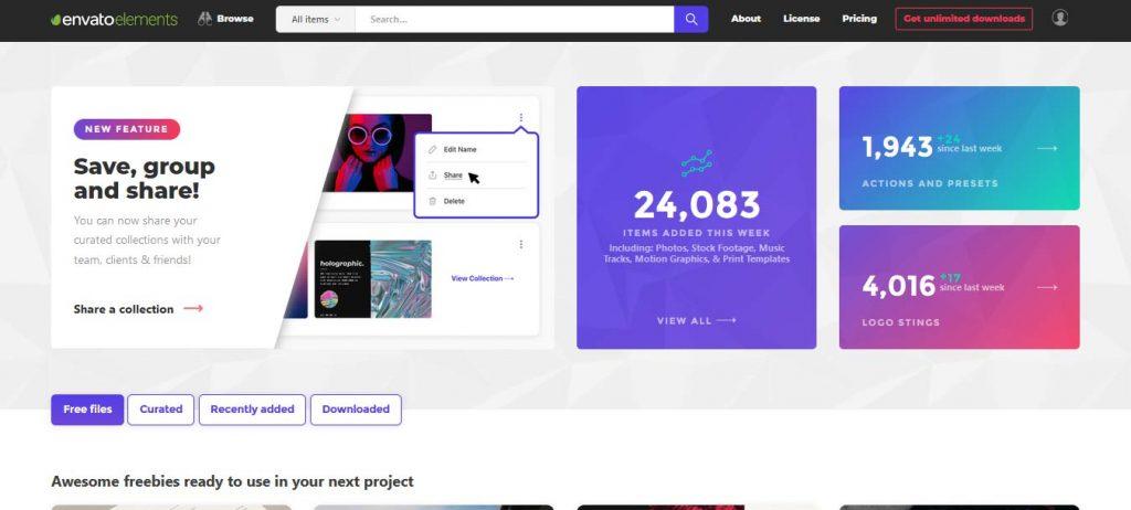 envanto merupakan salah satu situs desain grafis untuk mencari inspirasi desain