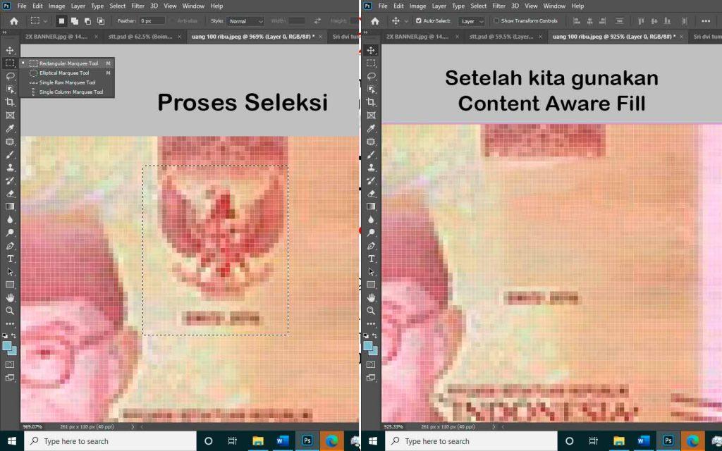 belajar dasar photoshop penggunaan fill photoshop cc 2020 sampai mahir