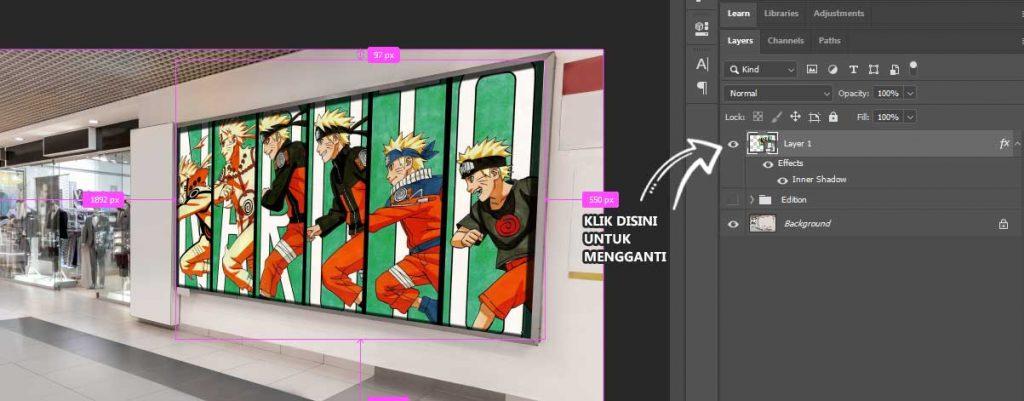 cara gunakan smart object photoshop cc 2020 sampai mahir