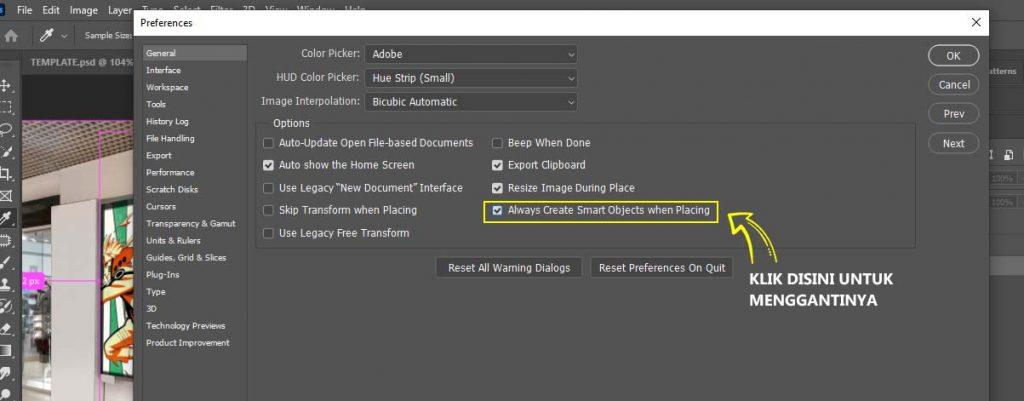 pengaturan smart object photoshop cc 2020 sampai mahir