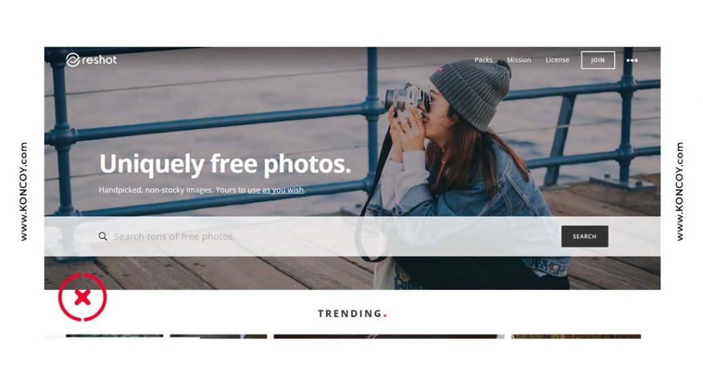 reshot merupakan situs untuk download gambar bebas gak cipta