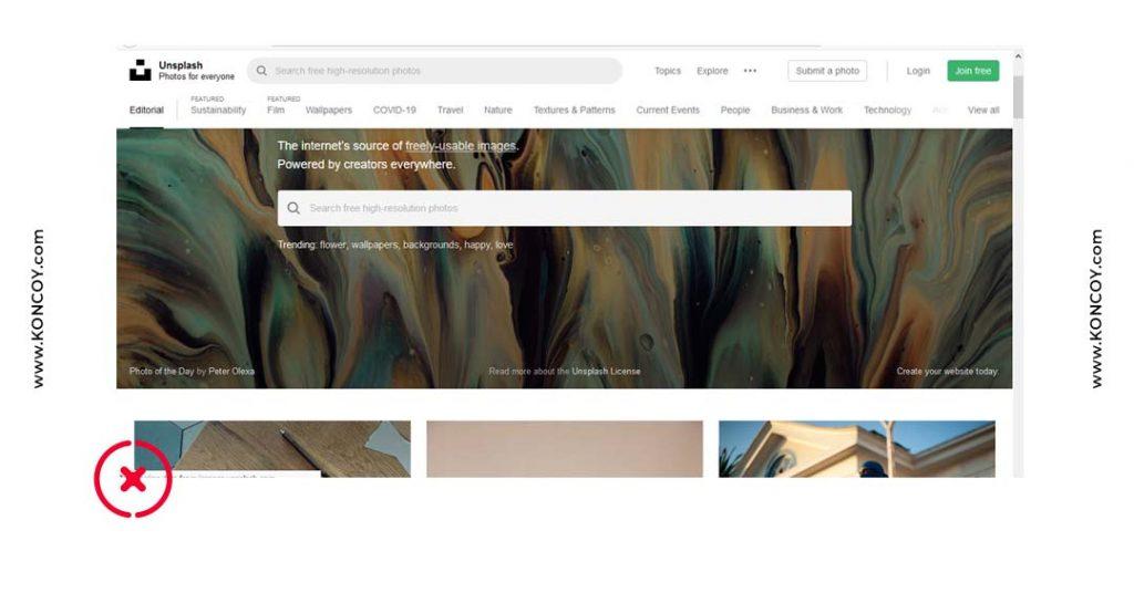unsplash merupakan situs download gambar gratis bebas hak cipta di photoshop