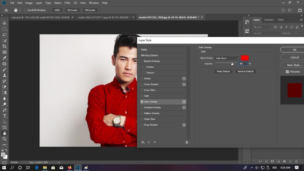 colour burn photoshop