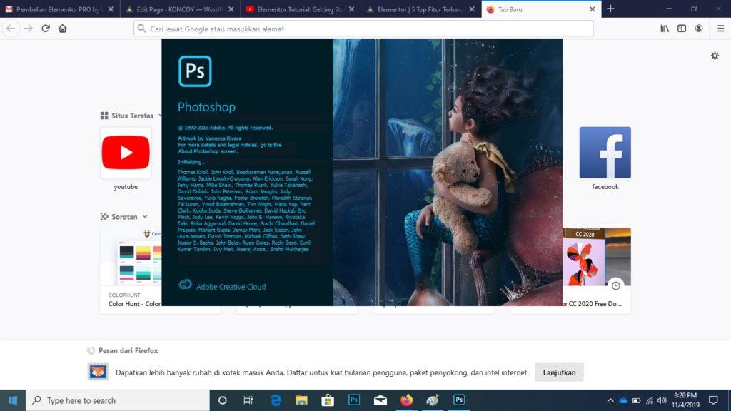 tampilan photoshop cc 2019