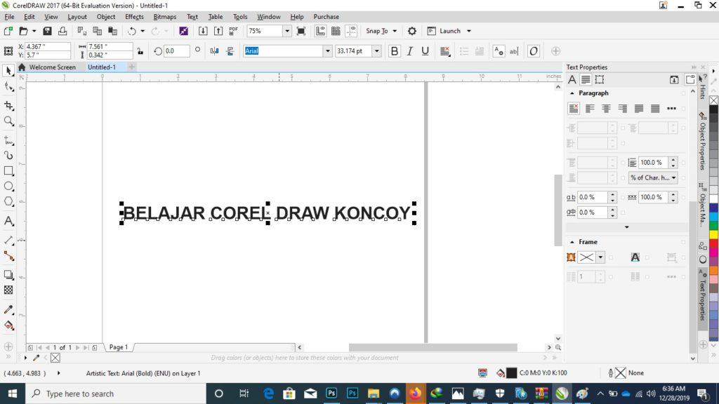 belajar corel draw koncoy cara membuat tulisan melengkung di corel