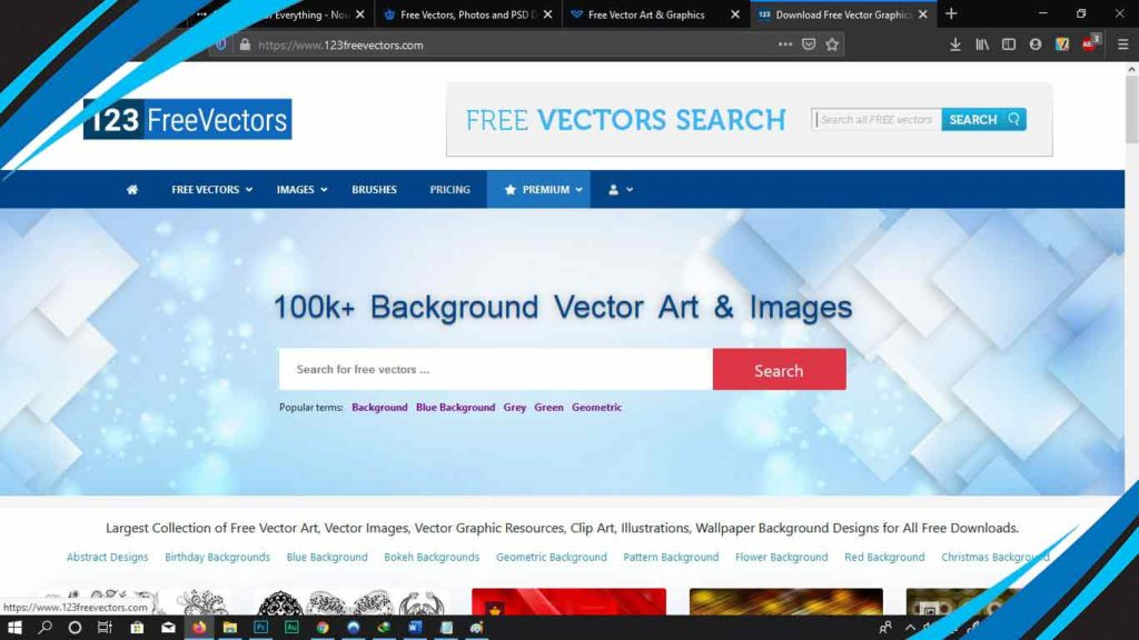 123freevector untuk mendownload vector gratis