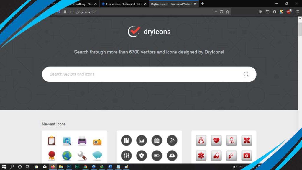 dryicon untuk download web vector gratis