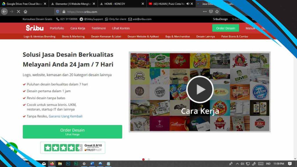 sribu.com penghasil uang dari desain grafis