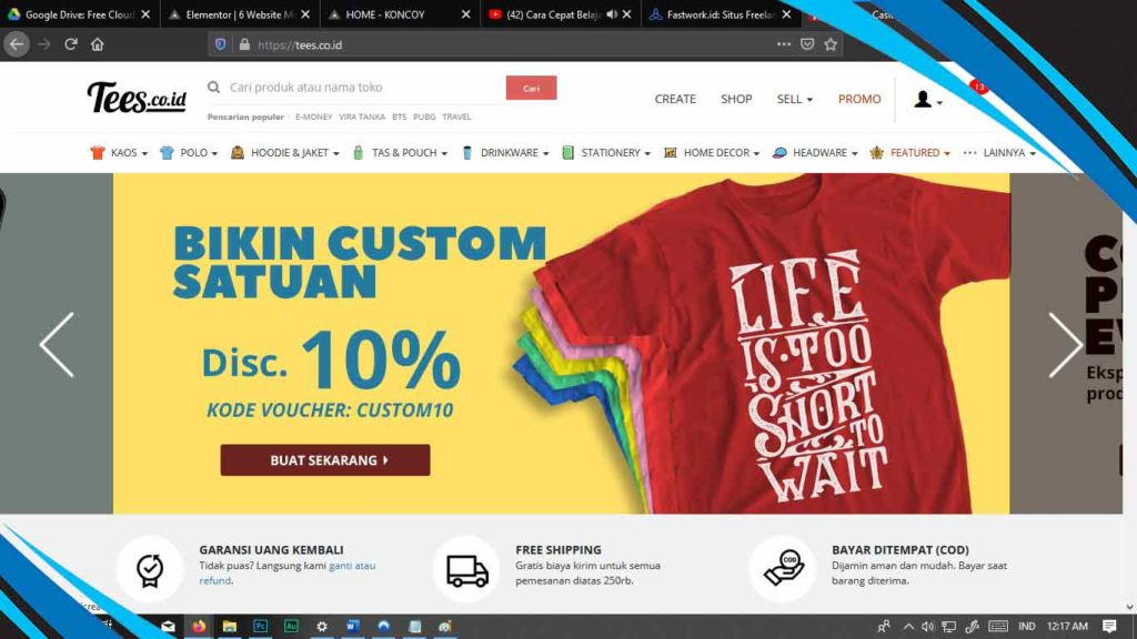 tees.com untuk menghasilkan uang dari web