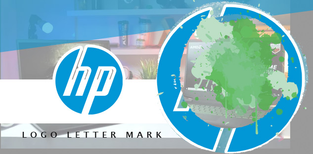 salah satu contoh logo letter mark adalah logo HP