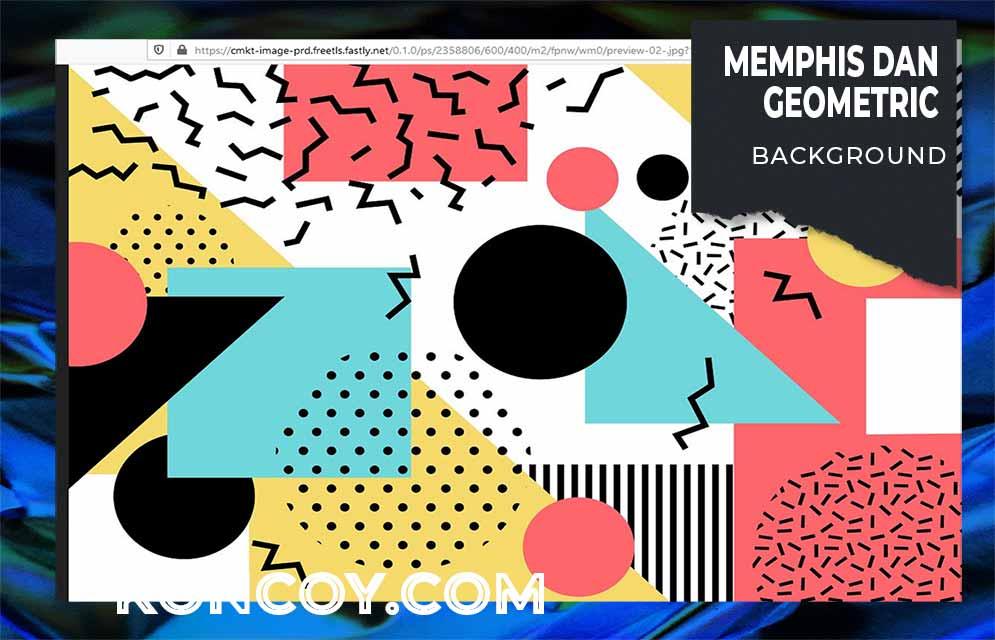 memphis-geometric background yang juga sering dipakai