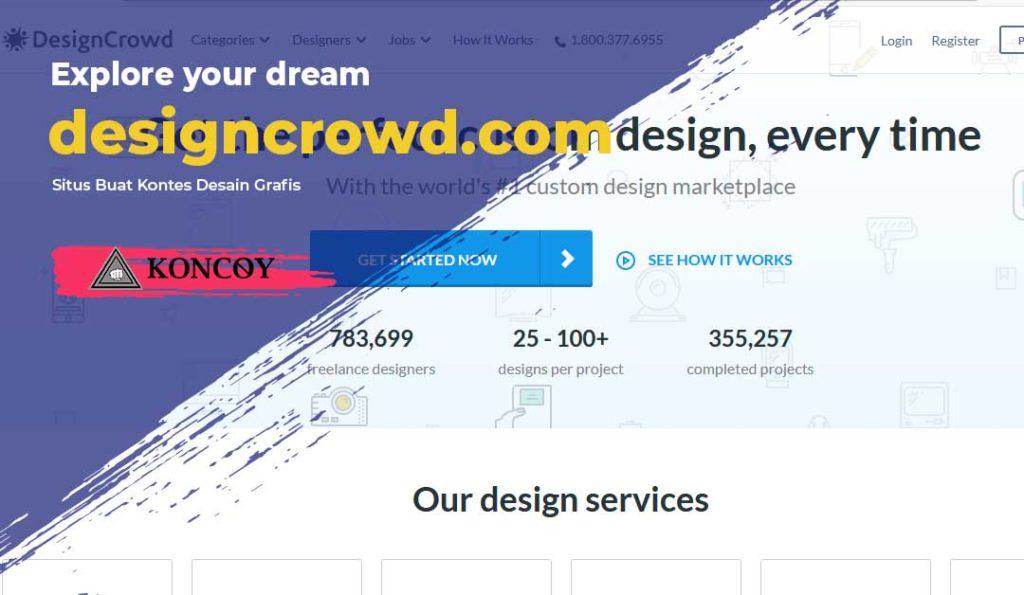 designcrowd.com salah satu situs untuk desain grafis terbaik