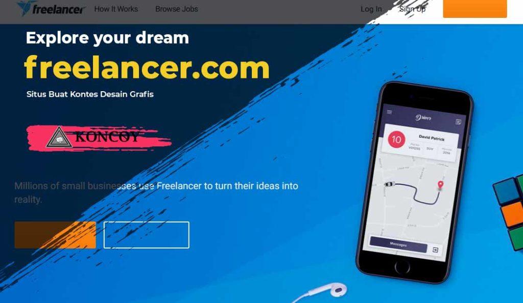 freelancer salah satu situs untuk kontes desain grafis