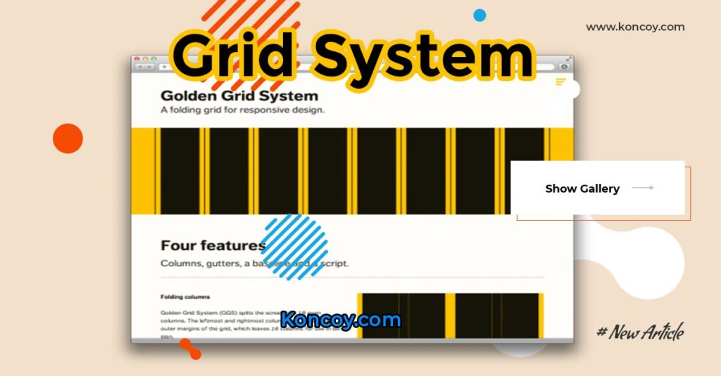 grid system untuk web desain pada photoshop