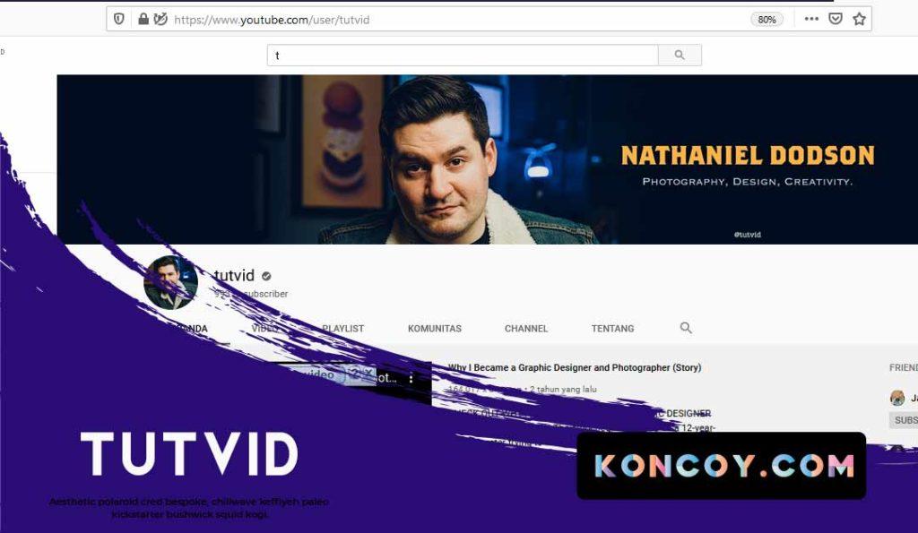 tutvid salah satu chanel youtube yang membahas desain grafis