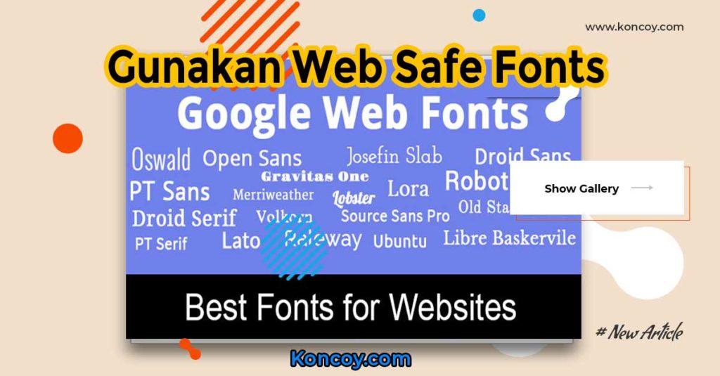 web safe fonts untuk desain yang buat dari photoshop