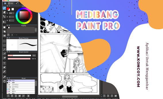 medibang paint pro merupakan aplikasi menggambar yang ada di komputer