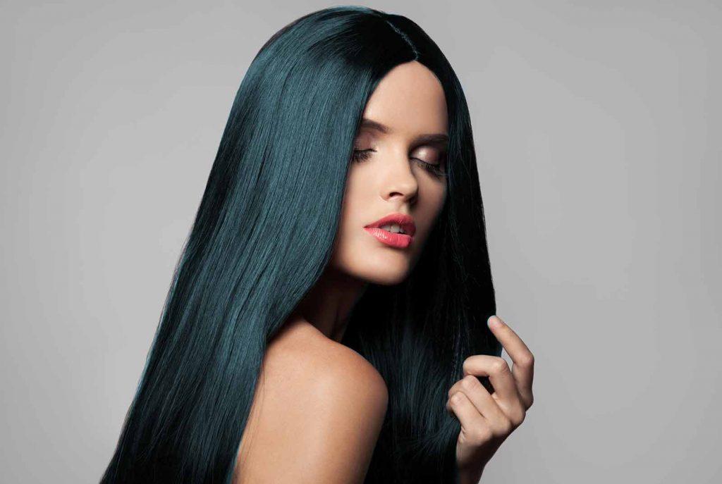 hasil rambut yang diwarnai menggunakan photoshop