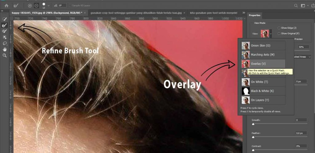 cara menggunakan select and mask pada photoshop
