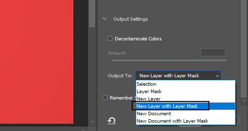 make new layer masking