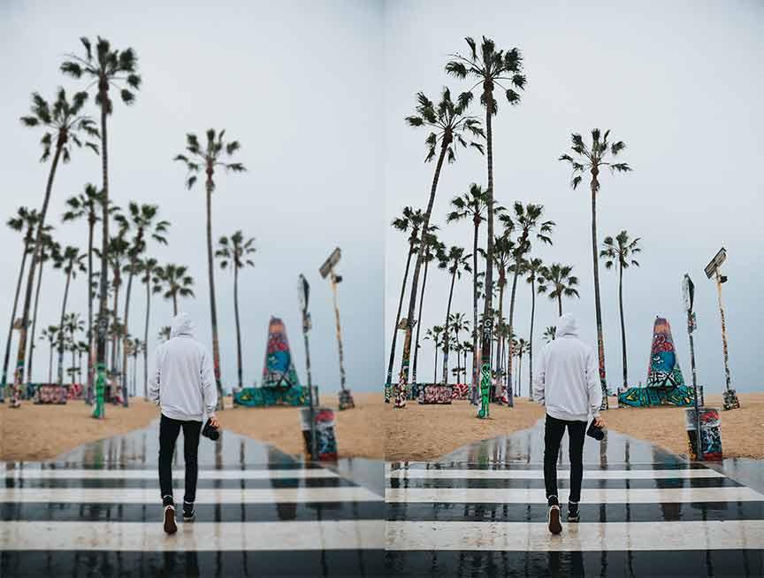 perbandingan background yang blur dan yang tidak blur