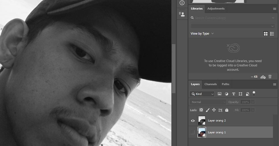 buat gambar menjadi hitam putih pada photoshop