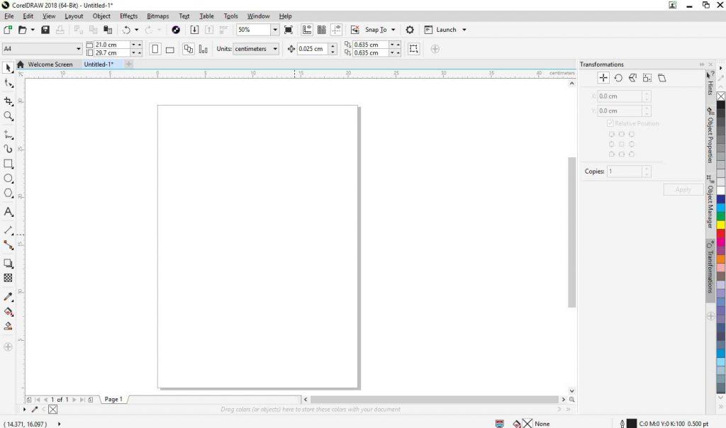 Cara Membuat Stempel Di Corel dengan buka coreldraw