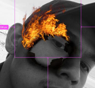 pelatakan layer api pada photoshop