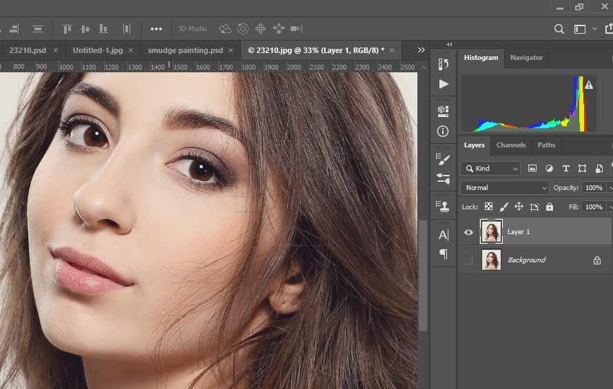 langkah pertama edit gambar smudge painting