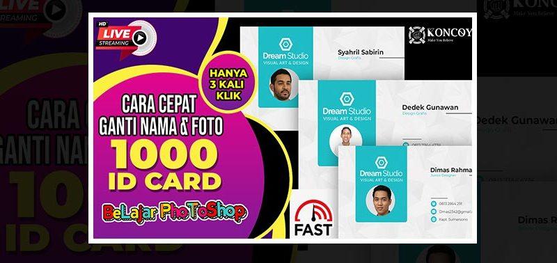 Belajar Photoshop – Desain Id Card Cepat di Photoshop CC2020