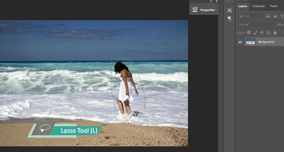 cara menghilangkan objek di foto yang menggangu dengan photoshop cc 2020